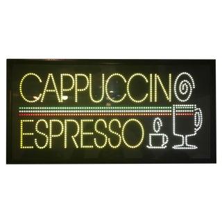 Vintage Cappuccino & Espresso Cafe Sign