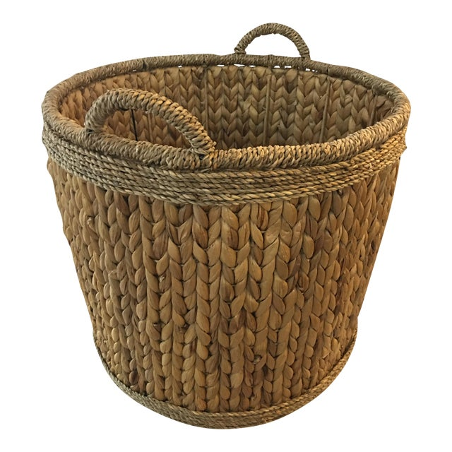 Woven Hyacinth Storage Basket - Image 1 of 4