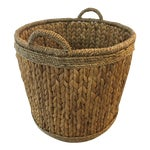 Image of Woven Hyacinth Storage Basket
