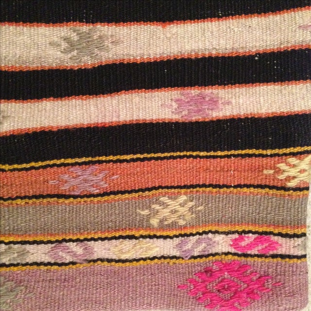Vintage Striped Kilim Pillow Case - Image 4 of 5