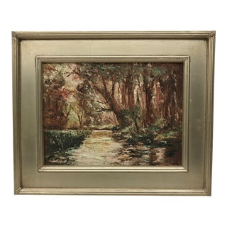 Vintage Continental Oil Painting