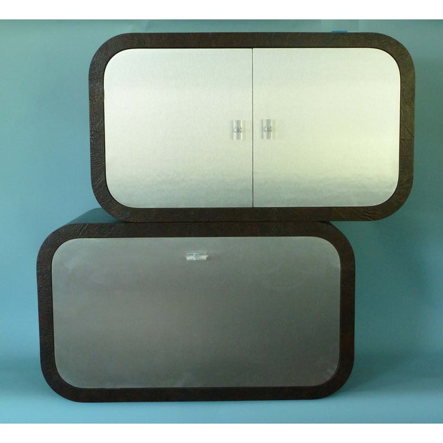 Image of 1970s Springer Style 2 Pc. Hanging Bar Cabinets