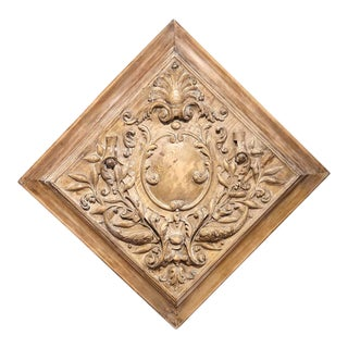 19th C. French Carved Plaque