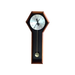 Mid-Century George Nelson Walnut Wall Clock