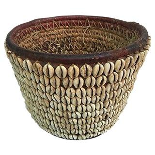 African Hand Woven Shell Basket