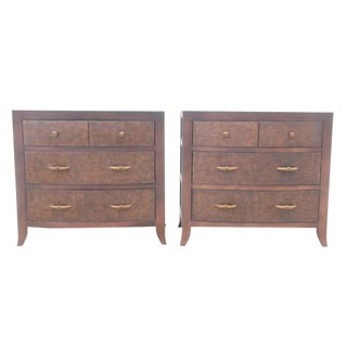 Midcentury Style Alligator Chest of Drawers, Pair