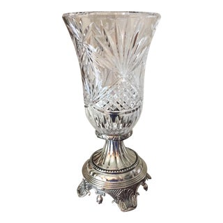 Silver-Plated & Crystal Table Lamp