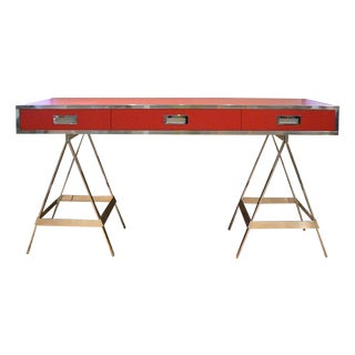 Albrizzi Trestle Red Laminate Desk