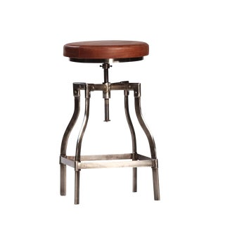 Leather Adjustable Counter or Bar Stool