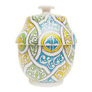 Moroccan Arabesque Design Ceramic Jar