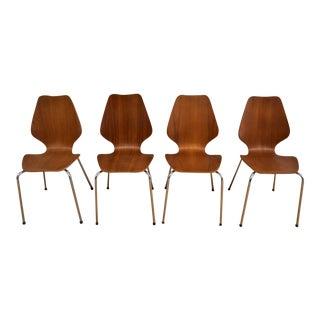 "Danish Teak Dining ""City Chairs"" - Set of 4"