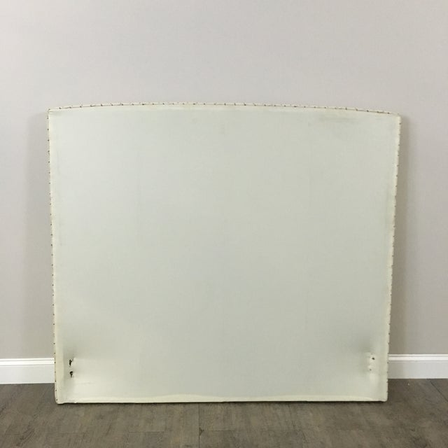 Plaid Nailhead Trim Queen Headboard - Image 7 of 8