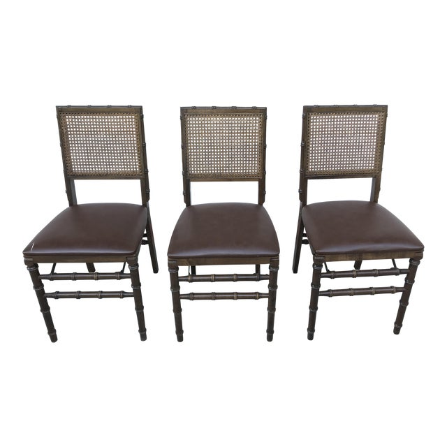 Vintage Bamboo Folding Chairs - Set of 3 - Image 1 of 6
