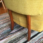 Image of Vintage 1950s Yellow Slipper Chair