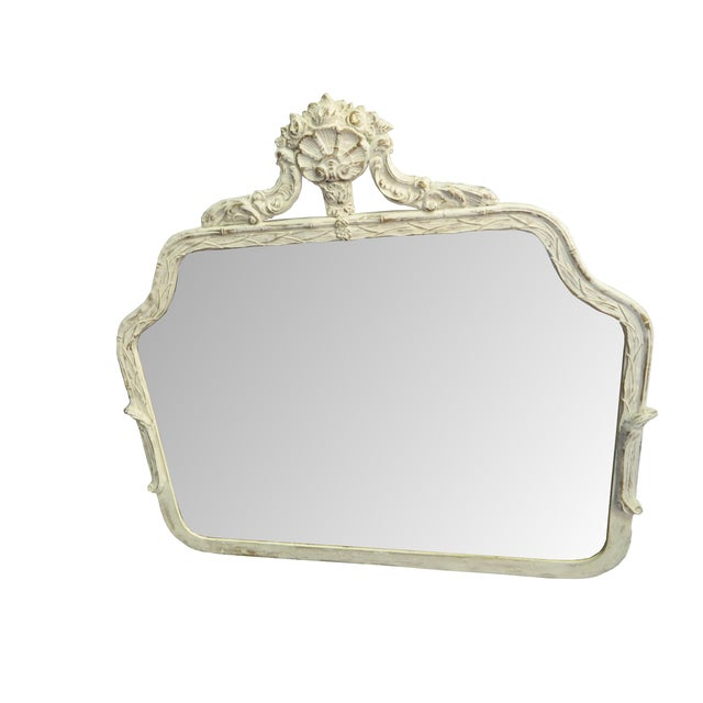 Antique French Paris Apartment Painted Mirror - Image 1 of 3