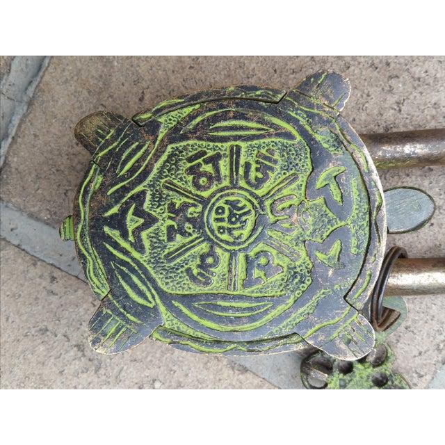 Bronze Turtle Mystery Lock - Image 3 of 3