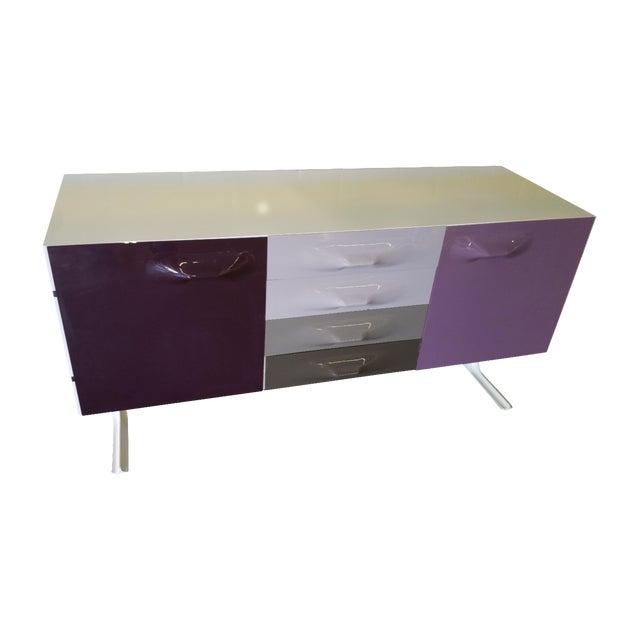 "Image of ""Raymond Loewy"" Purple & Gray Credenza"