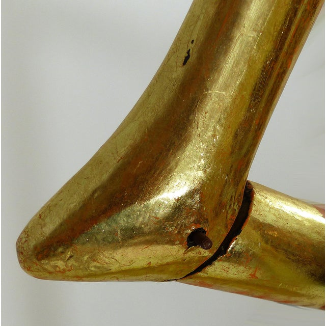 Mid-Century Gold Gilt Wooden Flamigo - Image 7 of 11