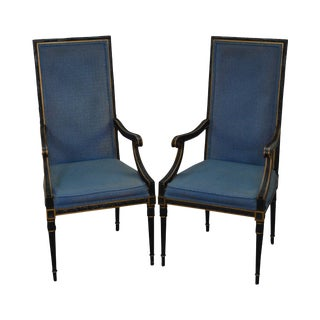 Karges Vintage French Louis XVI Style Arm Chairs - A Pair
