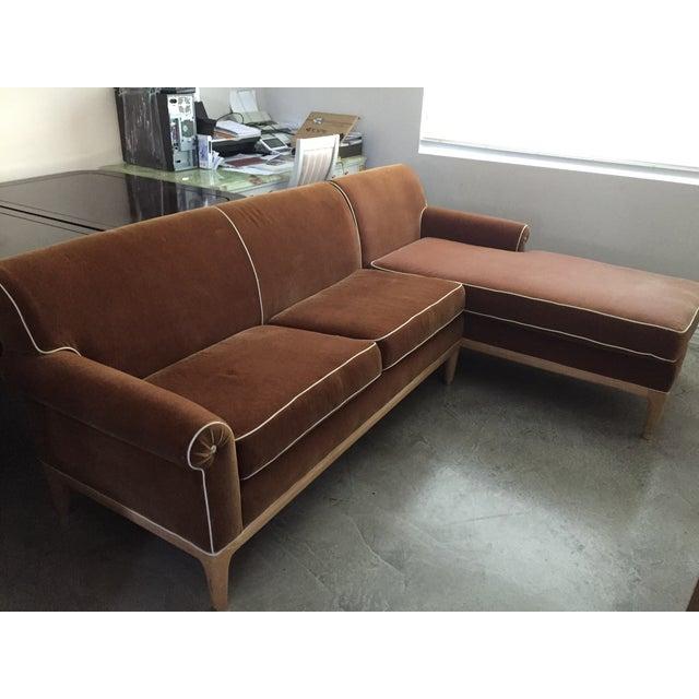Roger Thomas L-Shape Orange Sectional Sofa - Image 5 of 5