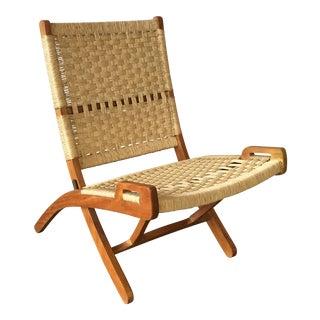 Vintage Wegner Style Cane Chair