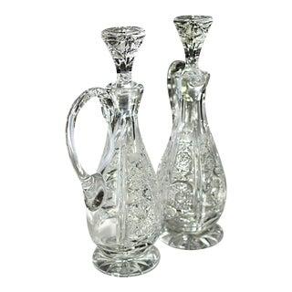 Cut Crystal Oil & Vinegar Decanters