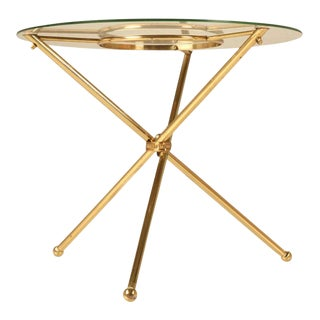 French Brass & Glass Neoclassical Table