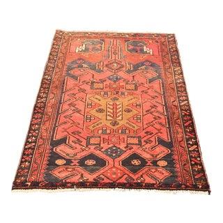 "Vintage Persian Zanjan Area Rug - 3'4""x4'6"""