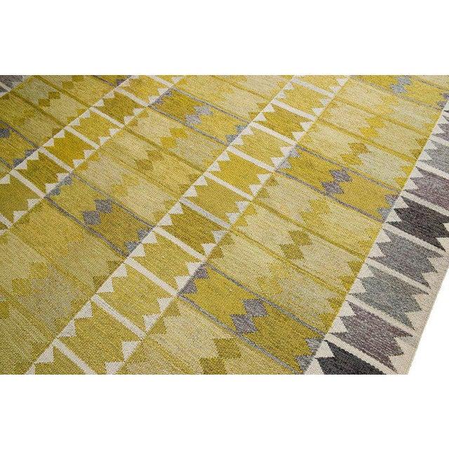 Vintage Ingrid Dessau Flat-Weave Swedish Carpet - Image 4 of 7
