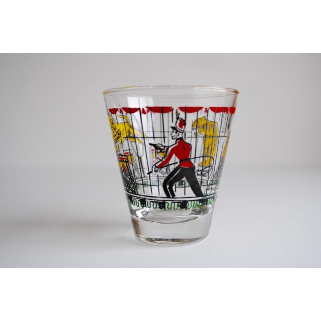 Vintage Circus Theme Whiskey Glasses - Set of 8 - Image 10 of 11