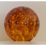 Image of Amber Controlled Bubble Glass Orb