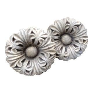Antique Stone Finials- A Pair