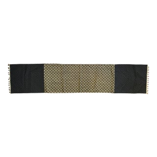 Black and Gold Table Runner With Beading
