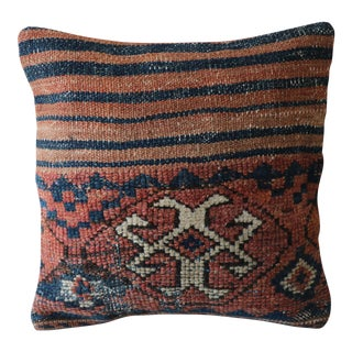 Vintage Hand-Knotted Wool Rug Pillowcase