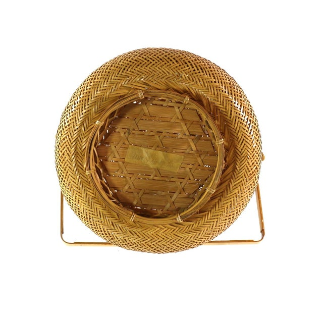 Image of 1930s Finely Woven Vintage Japanese Basket