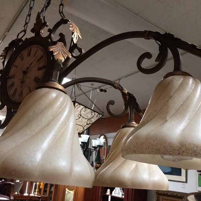 Fine Art Lamps Antiqued Iron Chandelier - Image 6 of 10