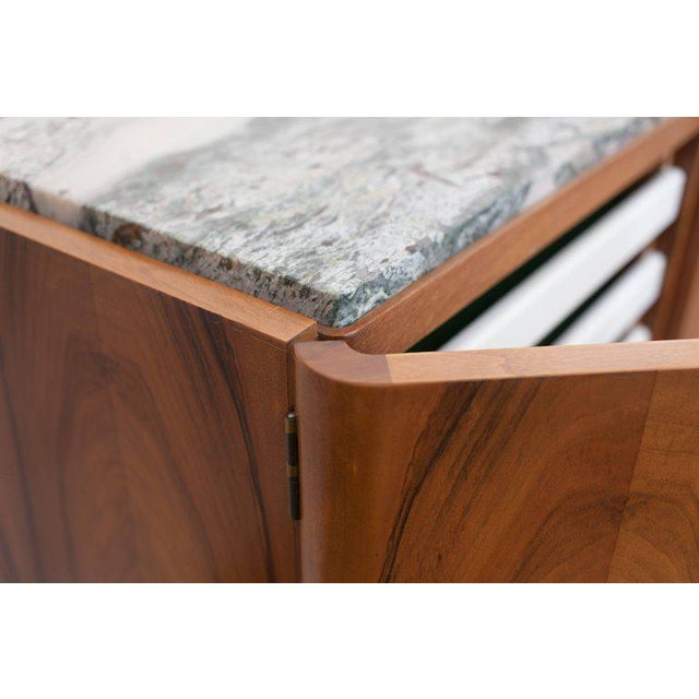 Walnut and Marble Credenza by Jos De Mey - Image 5 of 11