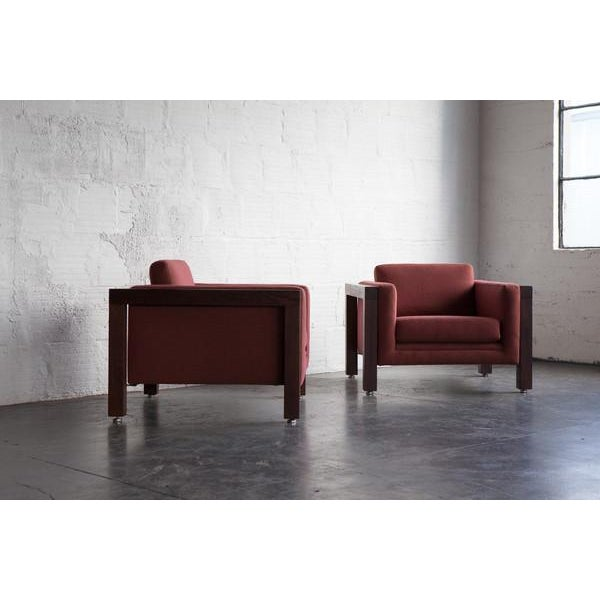 Image of Milo Baughman Thayer Coggin Club Chairs - Pair