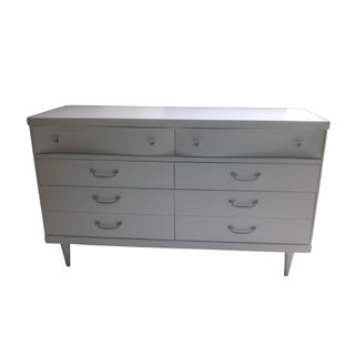 Bassett White Lacquer Dresser