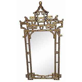 Faux-Bamboo Gilt Mirror