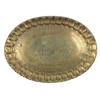 Solid Brass Decorative Tray