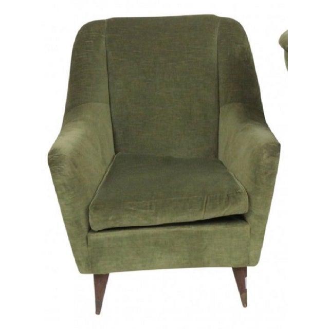 Image of Italian Modern Lounge Chairs - Pair