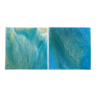 'Tranquil Moments I & II' Paintings - A Pair