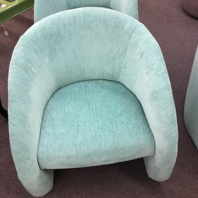 Mid-Century Modern Turquoise Chairs - Set of 2 - Image 5 of 5