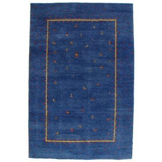 Hand-Knotted Blue Gabbeh Rug - 7' X 10'