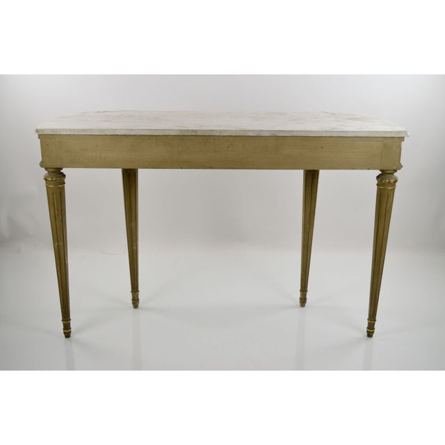 Image of Marble-Topped French Style Console Table - 1940s