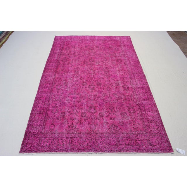 Vintage Overdyed Turki̇sh Rug - 6′4″ × 10′6″ - Image 2 of 6