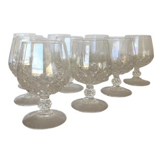 Cristal d'Arques Faceted Brandy Snifters - Set of 10