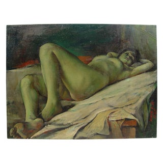 Reclining Nude Painting by Zhang, 1985
