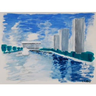 Rockefeller Plaza, Albany, New York Painting by Cleo